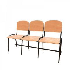 Фанерные секционные стулья АНТИВАНДАЛЬНЫЕ