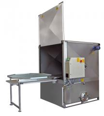 Industrial washing installation of parts and Atom
