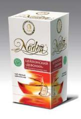 Ceylon tea bags of Tm of nADIN Ceylon Devoniya