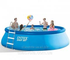 Открытый надувной круглый бассейн Intex 26166