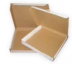 Boxes from a microcorrugated cardboard, production