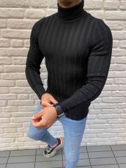 Черный свитер мужской под горло