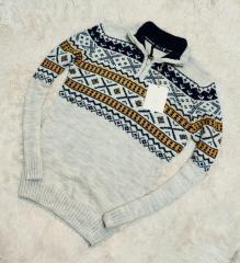 Серый мужской свитер smm с узором