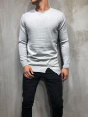 Серый мужской свитер smm