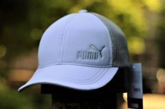 Бежево-белая мужская кепка Puma