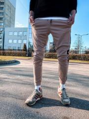 Бежевые мужские спортивные штаны