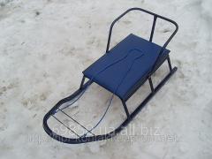 Санки детские Вихрь- 2 с мягким сиденьем