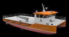 Многоцелевое рабочее судно катамаранного типа