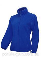 Флисовая кофта синего цвета (електрик)