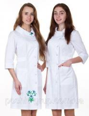 Женский медицинский халат Панянка вышивка