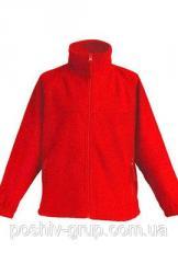 Детская флисовая куртка, красный цвет