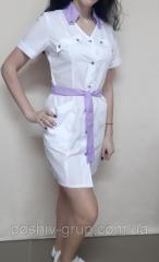 Женский медицинский халат Флави с коротким рукавом