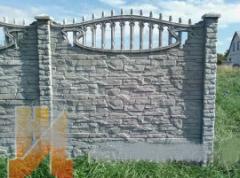 Плита Ж/б забора +блок наборной+кованные ворота и