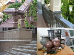 Декоративные изделия из гранита
