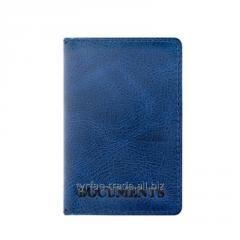 Кожаная обложка наID пластиковый новыйпаспорт, праваST синего цвета