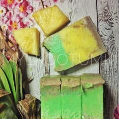 Натуральное мыло ручной работы АНАНАС