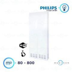 Рециркулятор воздуха бактерицидный настенный медицинский АЭРЭКС-ПРОФЕШНЛ 1200 с WiFi Завет, лампа Philips