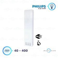 Бактерицидный рециркулятор медицинский, рециркулятор воздуха АЭРЭКС-ПРОФЕШНЛ 560 с WiFi Завет, лампа Philips