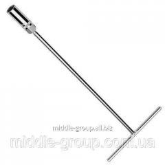 Ключ свечной с магнитом Т-образный TOPTUL 21мм