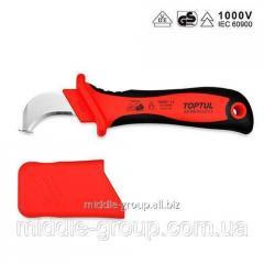 Нож кабельный изогнутый TOPTUL 1000V VDE