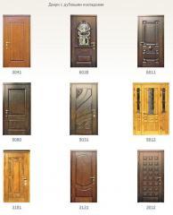 Двери входные домовые Двери с дубовыми накладками