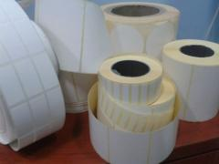 Labels self-adhesive in a roll. Production. To