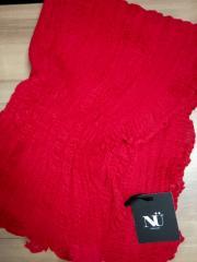 Шарф-палантин ажурный красный NU Denmark (Дания)