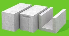 Gas concrete (gas-block) of a trademark of