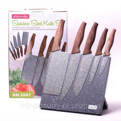 Набор кухонных ножей 6пр./(5 ножей+подставка)