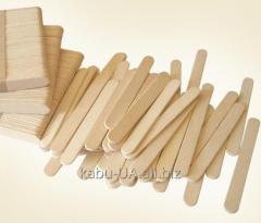 Sticks for ice cream, pallets for a shugaring, a