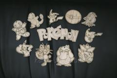 Wooden tags for scrapbooking, figures skrap