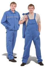 Полукомбинезон с куртой, Костюмы рабочие