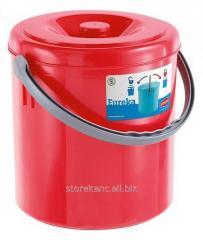 Ведро мусорное Stefanplast Eureka 10л, красное