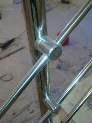 Accessories for a handrail from a stainless steel