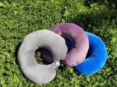 Подушка LSM для путешествий 30х30х9 серая (105-81)
