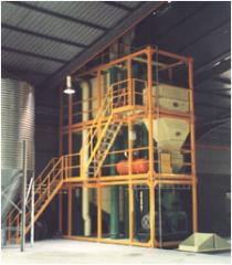 Compound feed production lines