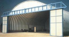 The buildings fast-built (hangars arch, buildings