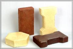 ДЭМ ( Дорожные элементы мощения) керамические.