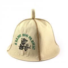 Банная шапка Luxyart В бане все равны Белый