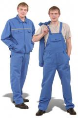The clothes are corporate, uniform - Overalls,