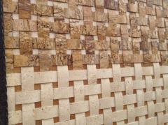 Травертиновая мозаїка. Природний камінь для