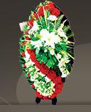 Венки для похорон из живых и искусственных цветов,