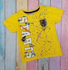 Футболка желтая для мальчиков с эмблемой р...