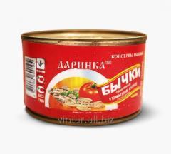 Бычок в томатном соусе.Бички в томатному соусі.