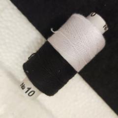 Нитки высокой прочности 10, черно-белые (РАВ-520)