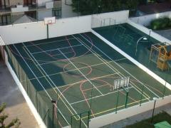 Резиновое покрытие для теннисных кортов
