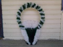 Ritual wreaths, baskets