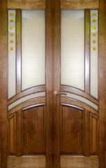 Двери двойные в комнату дуб массив Харьков.