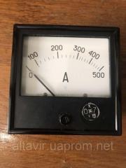 Амперметр переменного тока щитовой Э365-1 500А