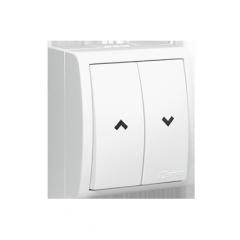 Кнопка жалюзійна вологостійка білий 0AX 10A
